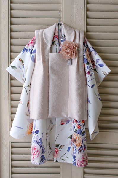 ドレス生地から作った七五三着物